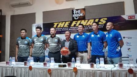 Konferensi Pers final IBL 2018/19 antara Stapac Jakarta vs Satria Muda. - INDOSPORT