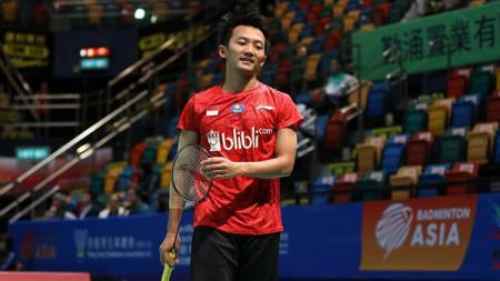 Ihsan Maulana, mantan atlet pelatnas PBSI mendapatkan harapan terbuka dari salah satu tunggal terbaik Indonesia, Jonatan Christie. - INDOSPORT