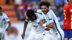 Indosport - Hudson-Odoi dan Sancho membela Timnas U-17 Inggris