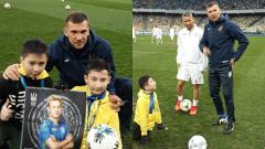 Indosport - Timnas Ukraina kedatangan tamu istimewa yang hadir dalam sesi latihan jelang Piala Eropa 2020