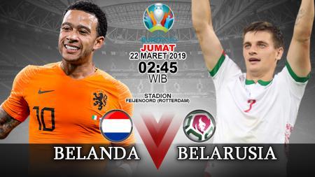 Prediksi pertandingan Belanda vs Belarusia. - INDOSPORT