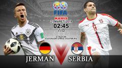 Indosport - Prediksi pertandingan Jerman vs Serbia.