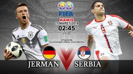 Prediksi pertandingan Jerman vs Serbia. - INDOSPORT