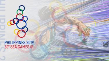 Logo SEA Games 2019 yang akan berlangsung di Manila, Filipina. - INDOSPORT