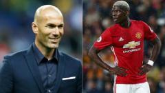 Indosport - Zinedine Zidane dan Paul Pogba