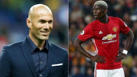 Zinedine Zidane dikabarkan tertarik untuk memboyong Paul Pogba ke Real Madrid. - INDOSPORT