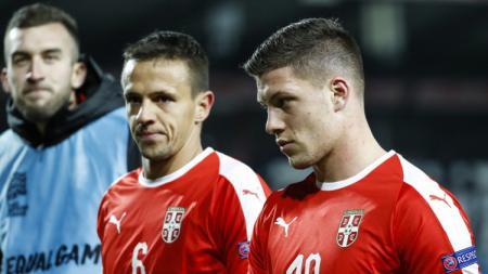 Luka Jovic bersama Timnas Serbia. - INDOSPORT