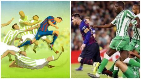 Lukisan Lionel Messi Jadi Kenyataan di Laga Barcelona vs Real Betis - INDOSPORT