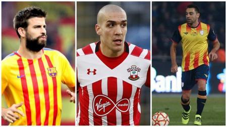 Pique, Romeu dan Xavi bergabung dengan Timnas Catalunya di laga persahabatan kontra Venezuela - INDOSPORT
