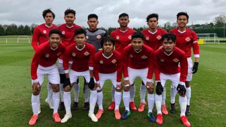 Setelah berhasil menang melawan QPR U18 dan Blackburn Rovers U 18 , laju Tim Garuda Select ditahan  tim kategori 1 Inggris, Huddersfield U18 dengan skor 2-2. - INDOSPORT