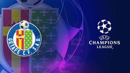 Logo Getafe CF dan Liga Champions - INDOSPORT