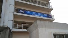 Indosport - Spanduk Kualifikasi Piala Asia U-23 yang ditemukan di Stadion My Dhin, Hanoi, Vietnam.