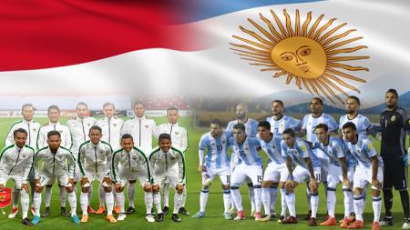 Timnas Indonesia vs Argentina. - INDOSPORT