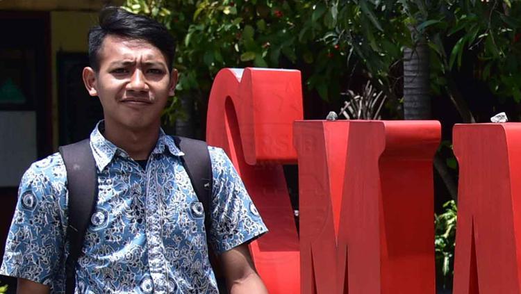 Gelandang muda Persib Beckham Putra Nugraha bersekolah di SMAN 22 Bandung. Copyright: PERSIB.co.id/M.Jatnika Sadili