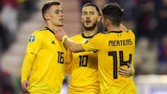Indosport - Selebrasi para pemain Belgia