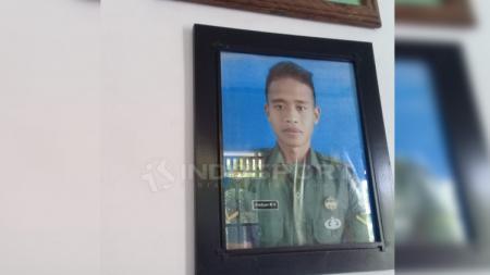 Bek Timnas U-23, Frediyan Wahyu Sugiyantoro di Desa Kertonatan, Kecamatan Kartasura, Kabupaten Sukoharjo. - INDOSPORT