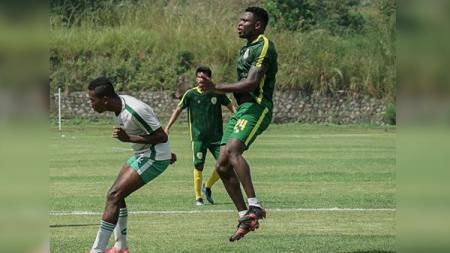 Pemain naturalisasi dari Nigeria Godstime Ouseloka Egwuatu. - INDOSPORT