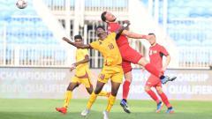 Indosport - Situasi pertandingan Palestina vs Sri Lanka