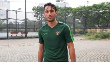 Penyerang tim nasional U-23 Indonesia asal klub RKC Waalwijk, Ezra Walian. - INDOSPORT