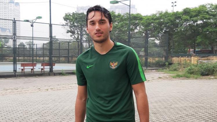 Penyerang tim nasional U-23 Indonesia Ezra Walian Copyright: Michael Siahaan/antaranews.com