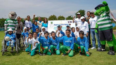 Acara Inclusive Soccer and Sports Festival di Stadion Untung Suropati, Pasuruan, siang tadi (23/03/19). - INDOSPORT