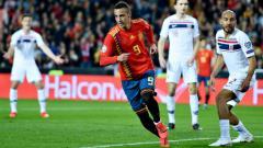 Indosport - Rodrigo merayakan golnya ke gawang Norwegia.