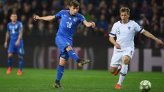 Indosport - Nicolo Barella, bintang muda Timnas Italia.