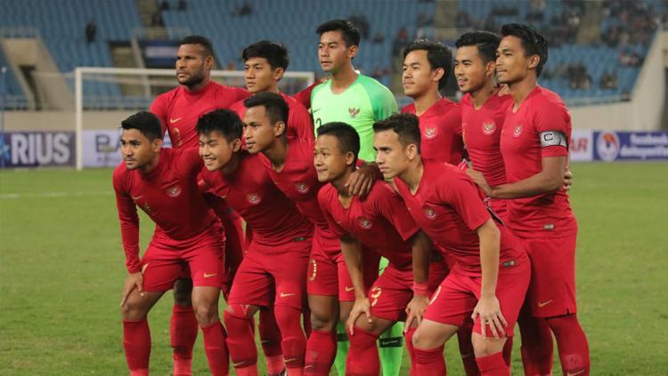 Skuat Timnas Indonesia U-23 saat menghadapi Vietnam. Copyright: PSSI