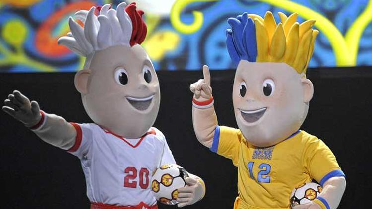 Maskot Piala Eropa 2012 Copyright: EURO