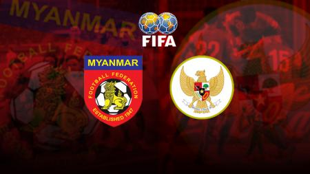 Myanmar vs Indonesia. - INDOSPORT