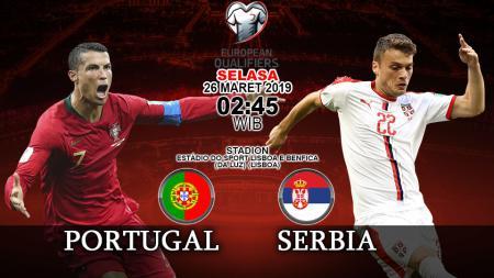 Prediksi pertandingan kualifikasi kejuaraan eropa Portugal vs Serbia. - INDOSPORT