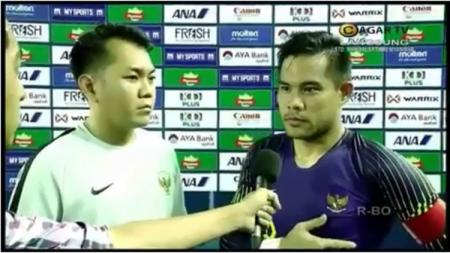 Andritany Ardhiyasa saat diwawancarai usai laga Myanmar vs Timnas Indonesia. - INDOSPORT
