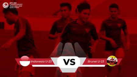 Indonesia vs Brunei. - INDOSPORT