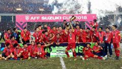 Indosport - Perayaan juara Vietnam di Piala AFF 2018 tahun lalu
