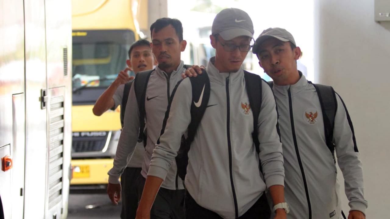 Official Timnas U-23 telah tiba di Indonesia. Copyright: Bandung Saputra/PSSI