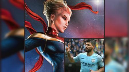 Captain Marvel, Sergio Aguero - INDOSPORT