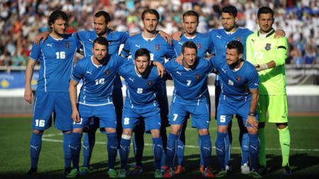 Skuat Timnas Kosovo pada laga persahabatan melawan Turki di Mitrovica, Serbia, (21/05/14) - INDOSPORT