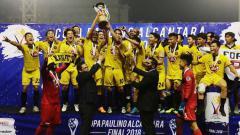 Indosport - Aksi selebrasi Kaya FC