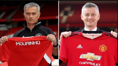 Perbedaan Ekspresi Jose Mourinho dan Ole Gunnar Solskjaer Saat Resmi Menjadi Pelatih Manchester United - INDOSPORT