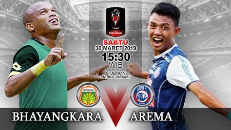 Pertandingan Bhayangkara FC vs Arema FC. - INDOSPORT
