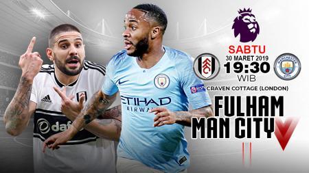 Pertandingan Fulham vs Manchester City. - INDOSPORT