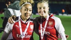 Indosport - Pemain Arsenal Ladies Saat Menjuarai Liga Primer Inggris