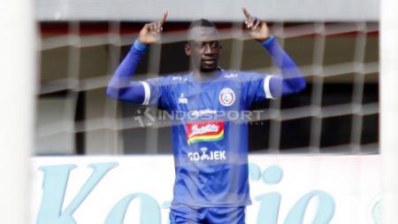Makan Konate saat membela Arema FC di Liga 1 2018 lalu. - INDOSPORT