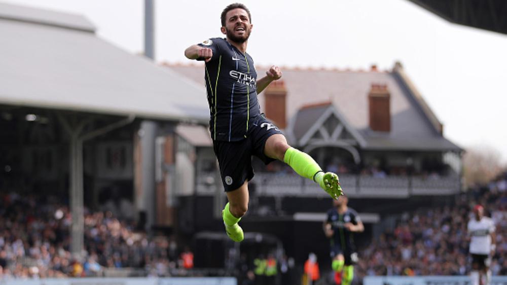 Selebrasi gol Bernardo Silva Copyright: Richard Heathcote/Getty Images