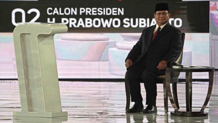 Prabowo Subianto dalam Debat Capres 2019. - INDOSPORT