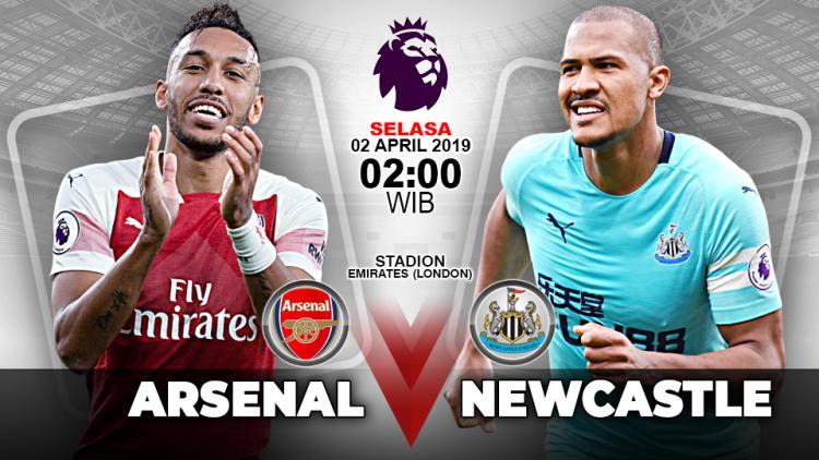 Pertandingan Arsenal vs Newcastle United. Copyright: Indosport.com