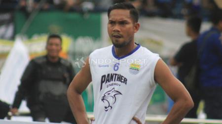 Kapten tim Badak Lampung FC, Sepulloh Maulana, merasa kehilangan sosok Daryono yang meninggal dunia pada Senin (09/11/20) pagi. - INDOSPORT