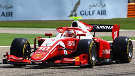 Pembalap PREMA Team Sean Gelael di ajang Formula 2 2019. - INDOSPORT