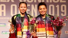 Indosport - Ganda putri Indonesia Greysia Polii/Apriyani Rahayu juara India Open 2019, Minggu (31/03/19).