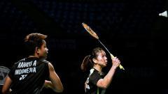 Indosport - Ganda putri Indonesia Greysia Polii Apriyani Rahayu berlaga di India Open 2019, Minggu (31/03/19).